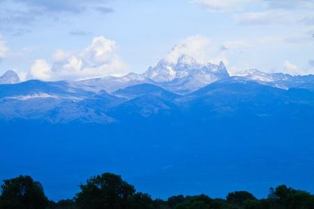 ケニアのケニア山