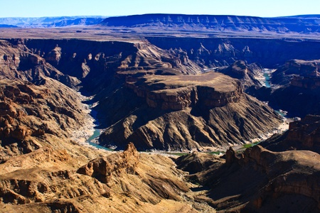 fish river canyon in namibia photo