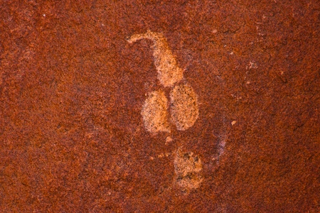 rock painting: prehistoric rock painting cliff in namibia