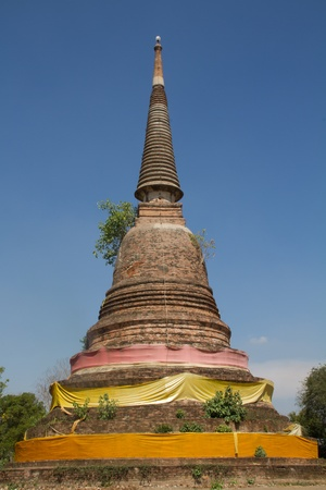 singburi: pagoda at singburi province in Thailand