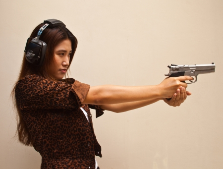 girl and gun photo
