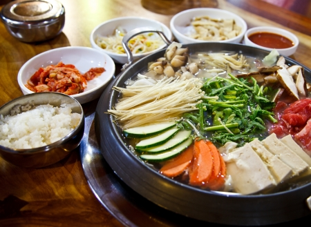 Happy with Korea food Stock Photo - 16854179