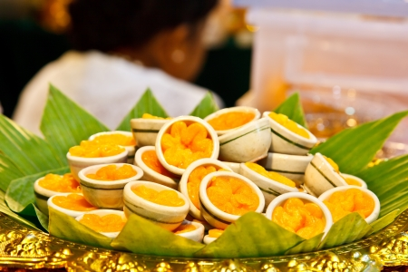 sweetmeat: Thongyhip a kind of Thai sweetmeat