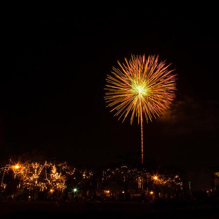 bangkok night: fireworks at night in Bangkok Stock Photo