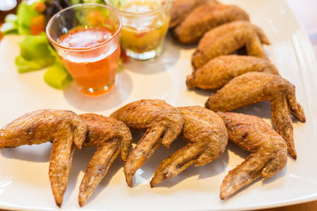 meal time: fried chicken wing for appetizer or meal time