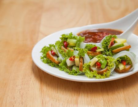Vietnamese Meatball Wraps is vietnam food. Vietnamese cuisine encompasses the foods and beverages of Vietnam