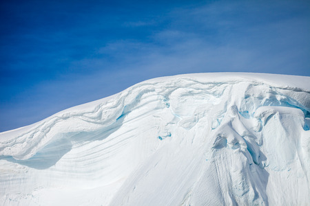 snow mountain and ice for background.