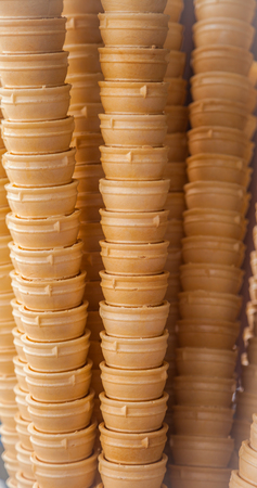 wafer cone cup for use with ice cream