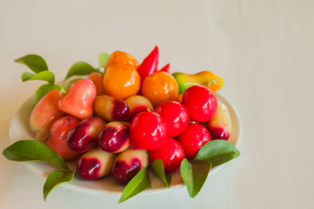 deletable imitation fruits on the table. sweet for appetizer? 版權商用圖片