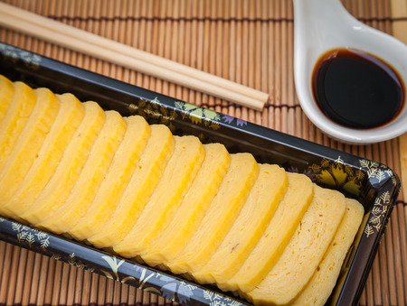 Japanese Omelette in janpanese food.