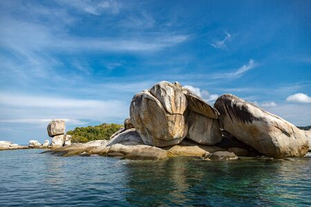 last rock of Thailand, blue sky and, butang island