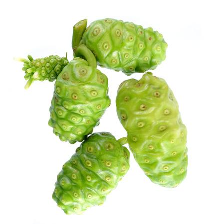 Noni Fruit isolated on white background.