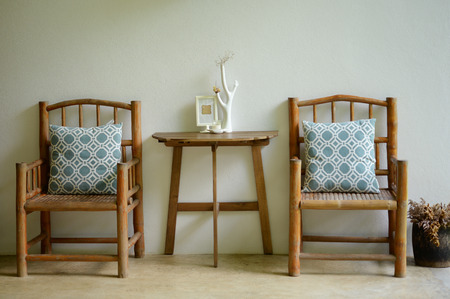 finite: Living room with empty chairs Stock Photo
