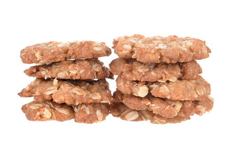galletas integrales: Coconut cookies isolated on white
