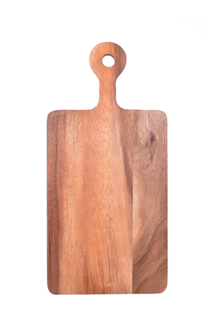 cutting: Cutting board isolated on white Stock Photo