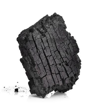 Charcoal isolated on white 版權商用圖片