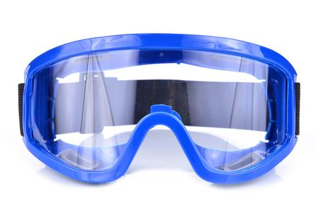 mechanic eye protection on white background