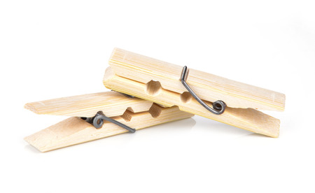 Wood clamp isolated on white background