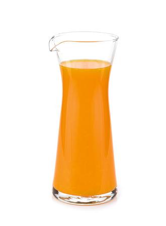 Orange juice glass isolated on white background Stock Photo