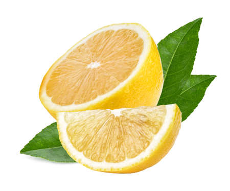 Lemon isolated on white background. Banco de Imagens