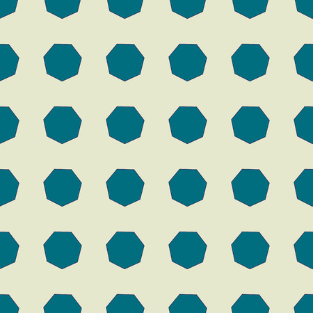 heptagon: Heptagon seamless pattern. Fashion graphic background design. Modern geometric stylish abstract texture. Colorful template for prints, textiles, wrapping, wallpaper, website  Stock VECTOR illustration Illustration