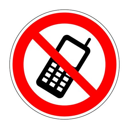 電話サインがないです。電話のアイコンを任意の使用のために大きい。携帯電話の画像をベクターします。フラットなデザイン スタイル。携帯電話