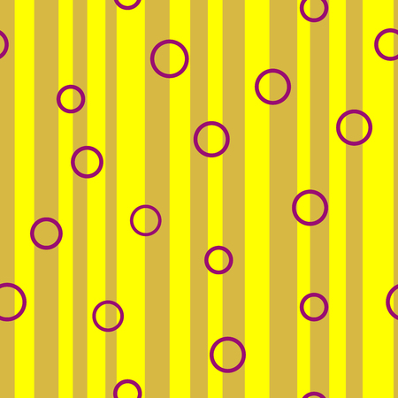 unevenly: Line and circle chaotic seamless pattern. Fashion graphic background design. Modern stylish abstract colorful texture. Template for prints, textiles, wrapping, wallpaper, website VECTOR illustration Illustration