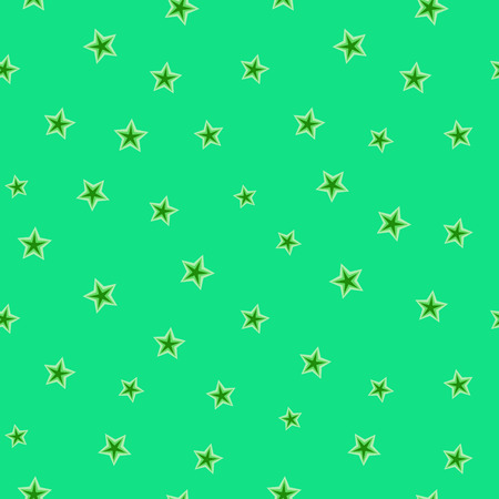 Stars chaotic seamless pattern. Fashion graphic background design. Modern stylish abstract texture. Color template for prints, textiles, wrapping, wallpaper, website Stock etc VECTOR illustration