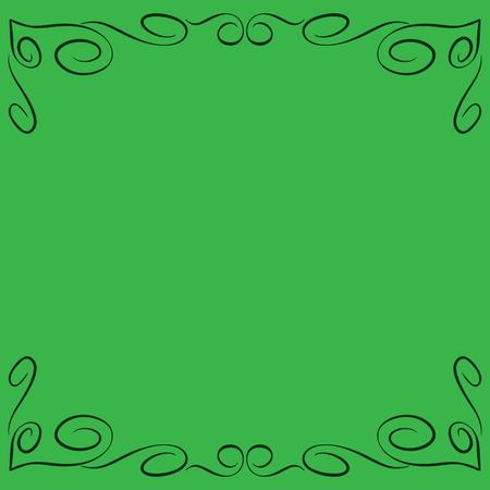 Frame green Ilustração