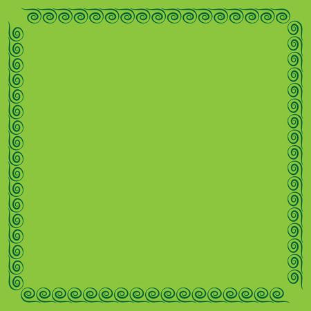 Frame green. Color framework isolated on light green background. Decoration concept. Modern art scoreboard. Border from waves. Decoration banner rim. Stock vector illustration