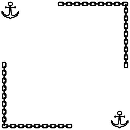 Marine Frame. Black Framework Isolated On White Background ...