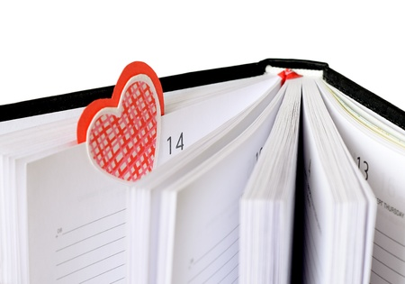 valentine's: Bookmark at Valentine s Day Stock Photo