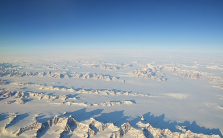 Aerial view on Greenland photo