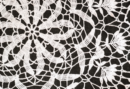Background of white crochet lace photo