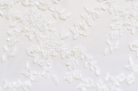 White wedding lace for background Stock Photo