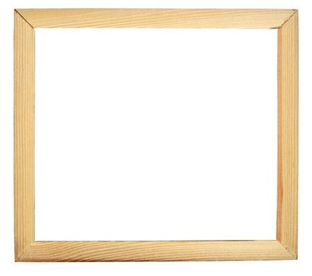 marco madera: Marco de madera aislado en blanco