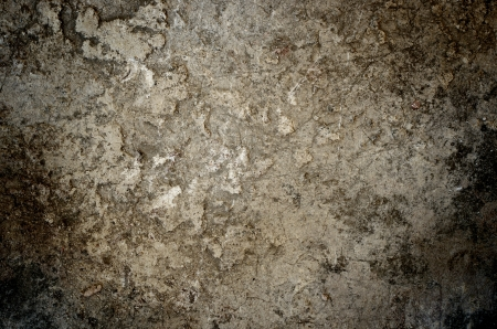 bedraggled: Dark stained concrete for background Stock Photo
