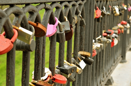 Locks holds the marriage bond by wedding tradition