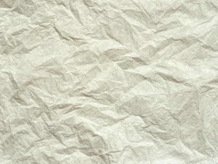 White wrinkled paper for background photo