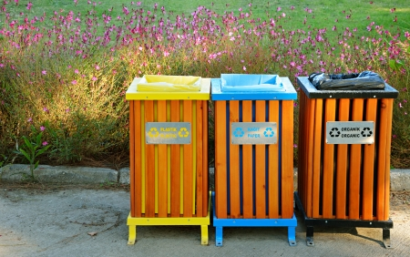 reprocess: Garbage bins for different types of objects