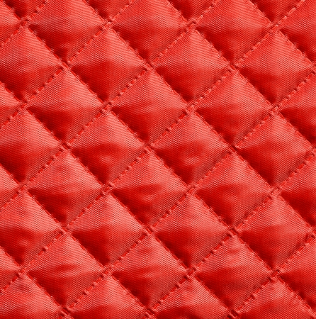 Red silk quilted fabric for background