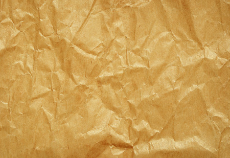 paper craft: Crumpled brown craft paper for background
