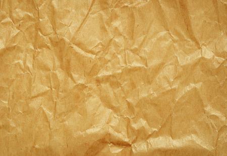 paper craft: Papel artesanal marrón arrugado para el fondo Foto de archivo