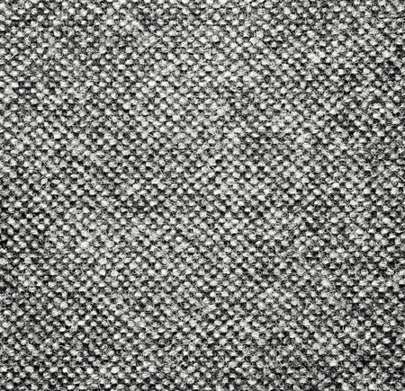 Black and white wool fabric texture for background photo
