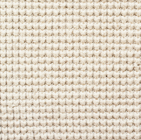 white fabric: Closeup of white knitted textile Stock Photo