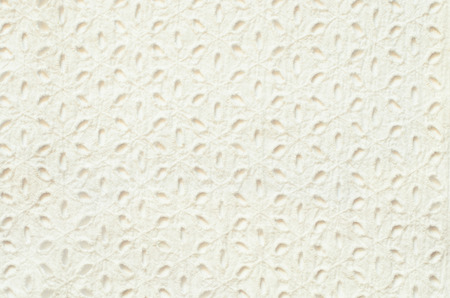 white canvas: White embroidered fabric on white background Stock Photo