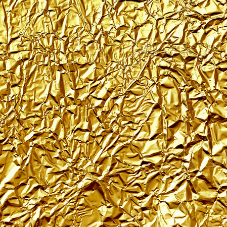 Gold crumpled foil for a background