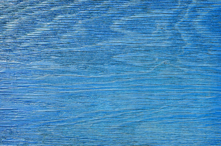 Texture of old blue painted wooden board for background