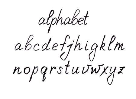 Set of handwritten letters isolated on white. Lettering Â«alphabet» 版權商用圖片