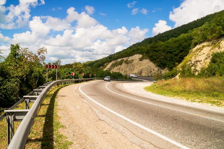 Mountain Highway  with abrupt turns photo